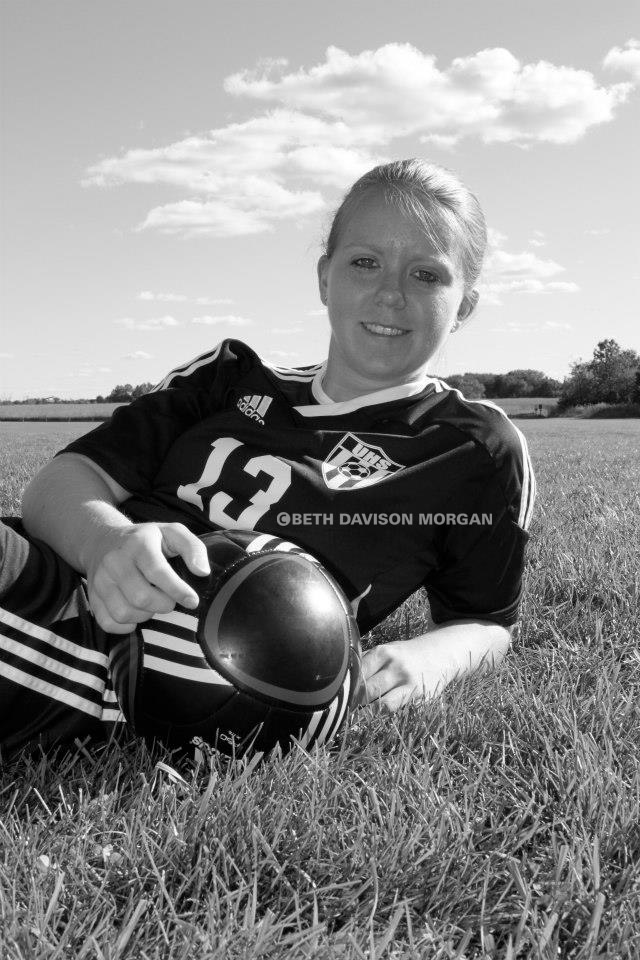 emily with soccer ball
